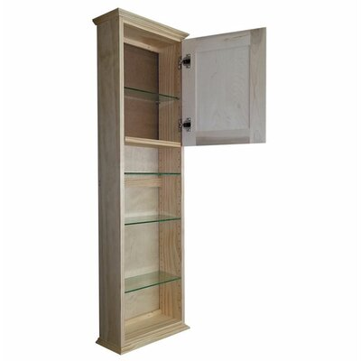 Shaker Series 15.25 x 49.5 Surface Mount Medicine Cabinet Size: 49.5 H x 15.25 W x 8 D