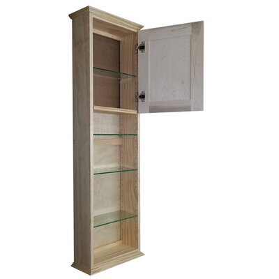 Shaker Series 15.25 x 49.5 Surface Mount Medicine Cabinet Size: 49.5 H x 15.25 W x 6.25 D