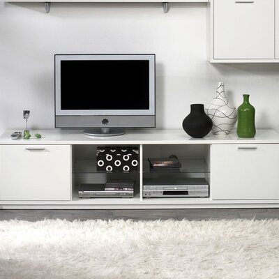cheap metro 74 tv stand finish white for sale. Black Bedroom Furniture Sets. Home Design Ideas