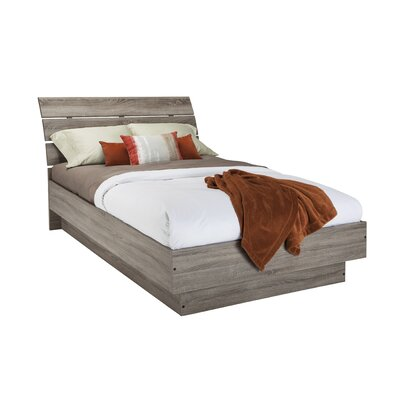 Kepner Platform Bed Size: Full, Color: Coffee