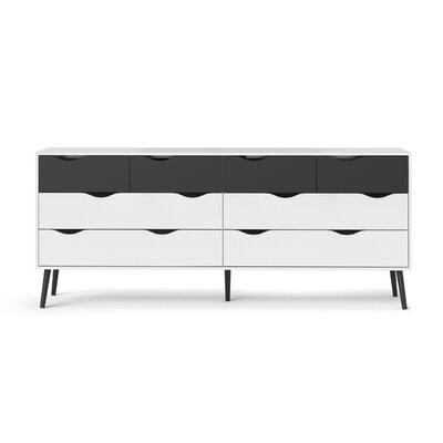 Park Avenue 8 Drawer Double Dresser