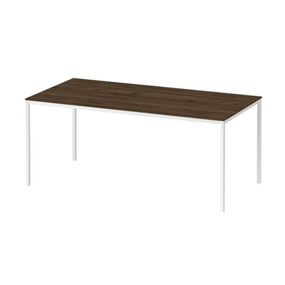 Condie Family Dining Table Base Color / Top Color: White/Walnut, Size: 29.53 H x 55.12 W x 35.43 D