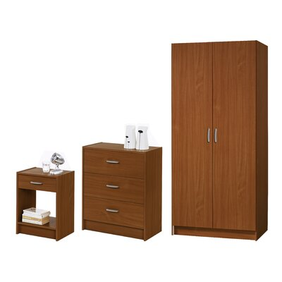 Mittal 3 Piece Armoire Set