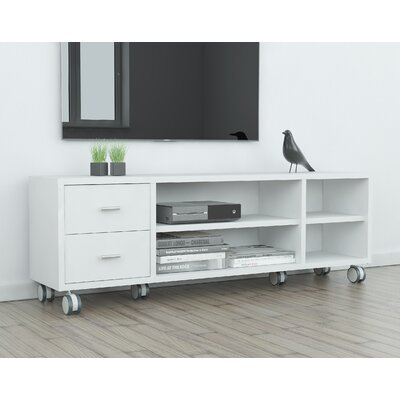 Kandras 63 TV Stand Color: White