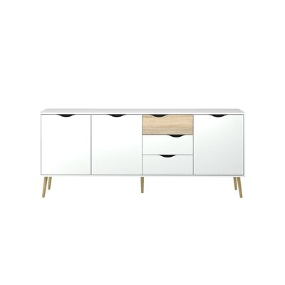 Park Avenue Sideboard Color (Base/Top): Qak Structure/White