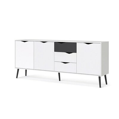 Park Avenue Sideboard Color (Base/Top): Black Mat/White