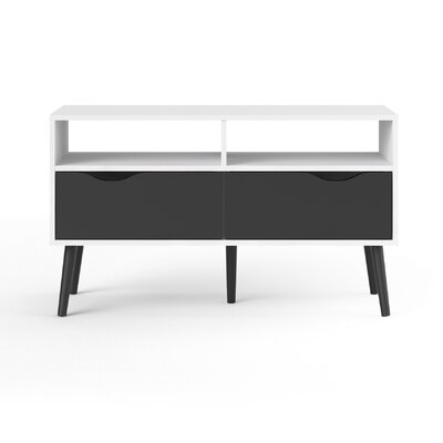Zephyr 40 TV Stand Color: Black Matte/White