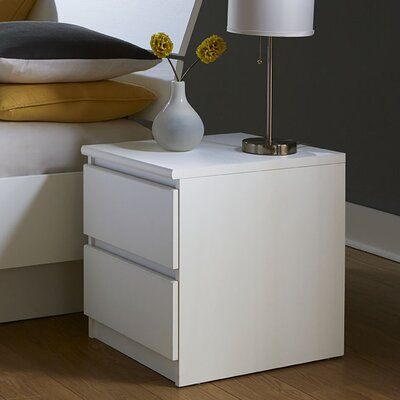 Kepner 2 Drawer Nightstand Color: White Ash
