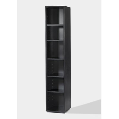 buy low price tvilum fairfax narrow bookcase in black