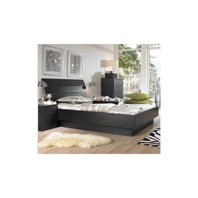 Tvilum Scottsdale Panel Bed - Size: Queen, Finish: Black Woodgrain