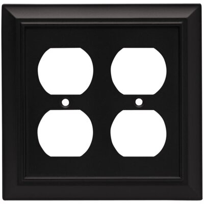 Architectural Double Duplex Wall Plate Finish: Flat Black