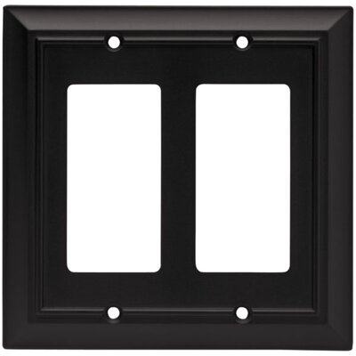 Architectural Double Decorator Wall Plate Finish: Flat Black