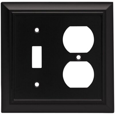 Architectural Single Switch/Duplex Wall Plate Finish: Flat Black