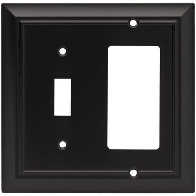 Architectural Single Switch/Decorator Wall Plate Finish: Flat Black