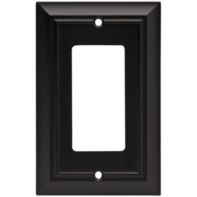 Architectural Single Decorator Wall Plate Finish: Flat Black