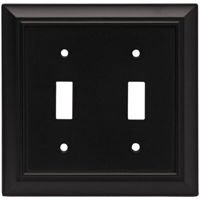 Architectural Double Switch Wall Plate Finish: Flat Black