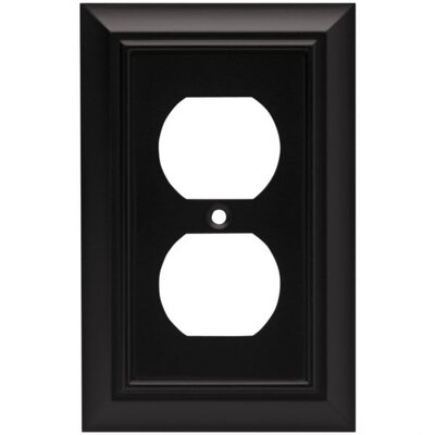 Architectural Single Duplex Wall Plate Finish: Flat Black