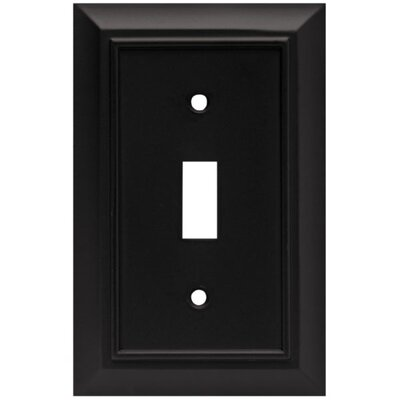 Architectural Single Switch Wall Plate Finish: Flat Black