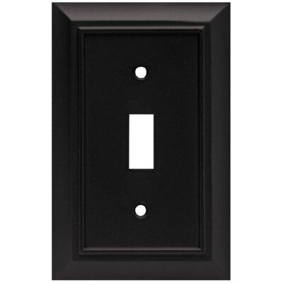 Architectural Single Switch Wall Plate Finish: Flat Black