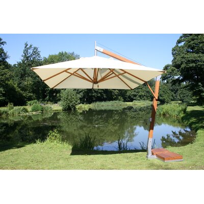 11 x 11 Levante Rectangular Cantilever Umbrella Fabric: Black