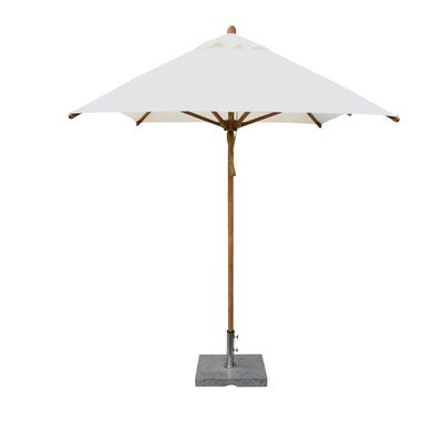 Bambrella 6.5' x 10' Levante Rectangular Market Umbrella - Fabric: Red