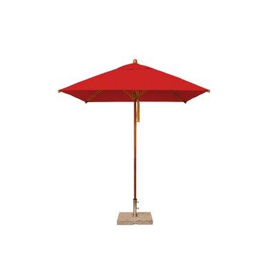7 Levante Square Market Umbrella Fabric: Red