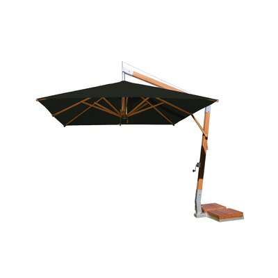 Sidewind 10 Square Cantilever Umbrella Fabric: Black