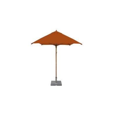 7 x 10 Levante Rectangular Market Umbrella Fabric: Terracotta