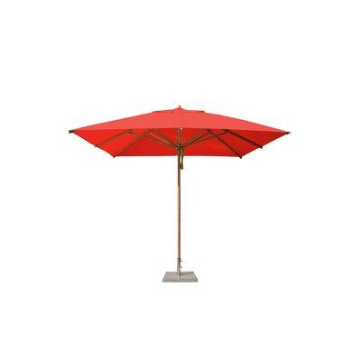 10 Levante Square Market Umbrella Fabric: Red