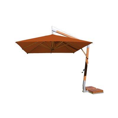 10 Sidewind Square Cantilever Umbrella Fabric: Terracotta
