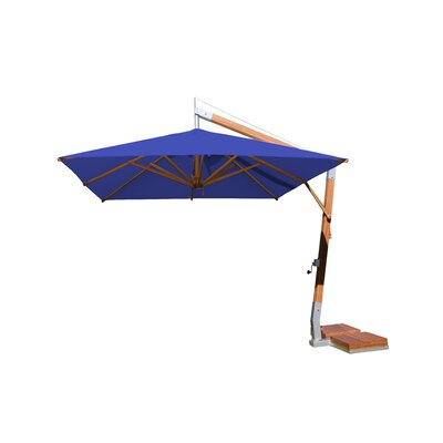 10 Sidewind Square Cantilever Umbrella Fabric: Blue