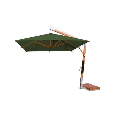 10 Sidewind Square Cantilever Umbrella Fabric: Forest Green
