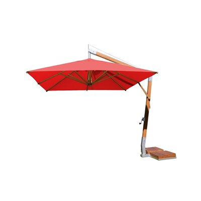 10 Sidewind Square Cantilever Umbrella Fabric: Red