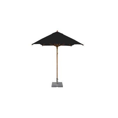 7 x 10 Levante Rectangular Market Umbrella Fabric: Black