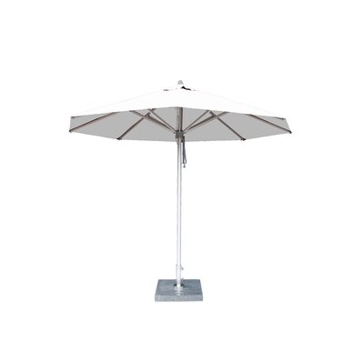 10 Hurricane Market Umbrella Fabric: Ice White