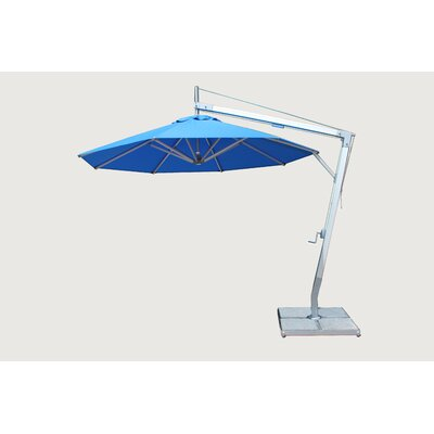 10 Side Wind Santa Ana Cantilever Umbrella Fabric: Terracotta