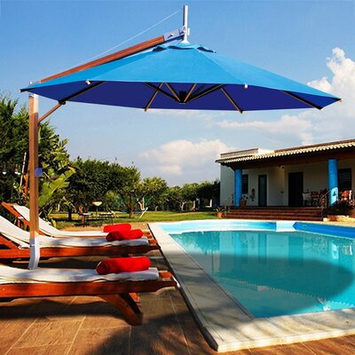 10 Side Wind Sirocco Cantilever Umbrella Finish: Red