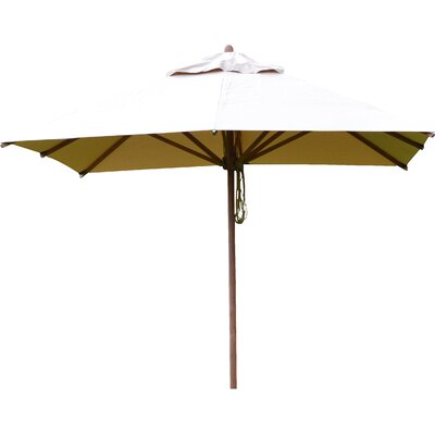 8.5 Levante Square Market Umbrella Fabric: Black