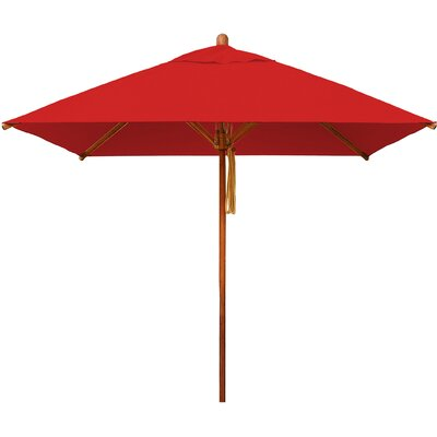 7 Levante Square Market Umbrella Fabric: Red