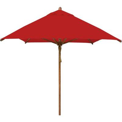 7 x 10 Levante Rectangular Market Umbrella Fabric: Red
