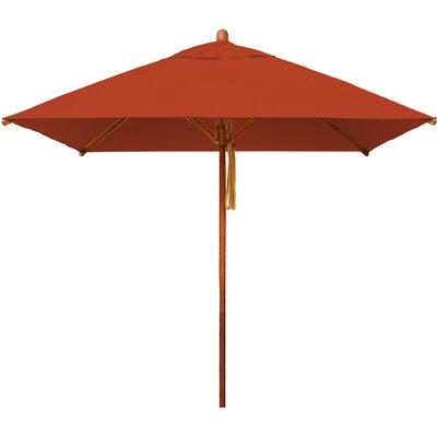 7 Levante Square Market Umbrella Fabric: Terracotta