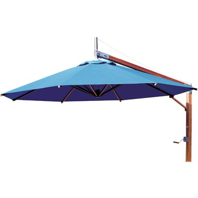 8.5 Side Wind Sirocco Square Cantilever Umbrella Finish: Ecru