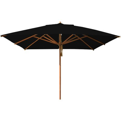 10 Levante Square Market Umbrella Fabric: Black