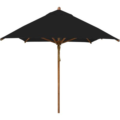 7 x 10 Levante Rectangular Market Umbrella Fabric: Black