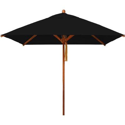 7 Levante Square Market Umbrella Fabric: Black