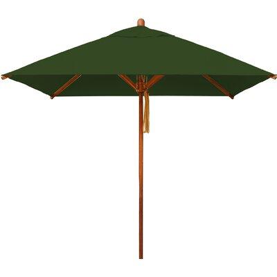 7 Levante Square Market Umbrella Fabric: Forest Green