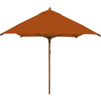 7 x 10 Levante Rectangular Market Umbrella Fabric: Terracotta