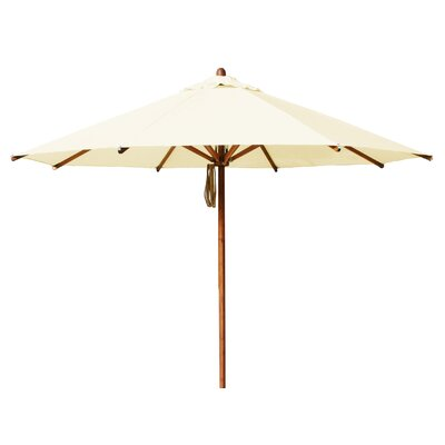 Levante 10 Market Umbrella Fabric: Ecru