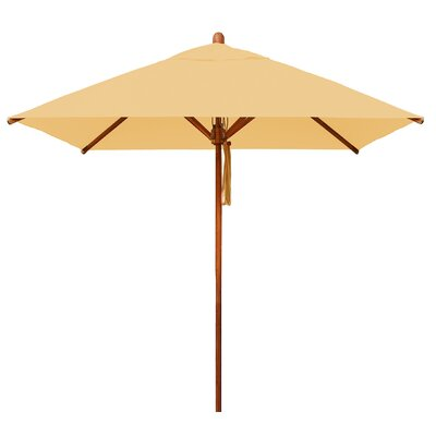 7 Levante Square Market Umbrella Fabric: Ecru