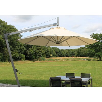 10 Side Wind Santa Ana Cantilever Umbrella Fabric: Ecru